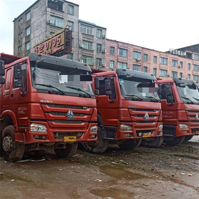 China Best Condition Used Sinotruk HOWO 10 Tires Tipper